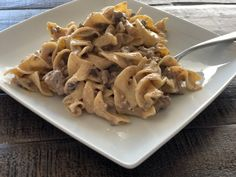 Fast and Easy Ground Beef Stroganoff | The Butcher's Wife Easy Steak Recipes, Beef Recipes, Cooking Recipes, Skillet Recipes, Cooking Ideas, Casserole Recipes, Food Ideas, Comfort Food Meaning, Easy Ground Beef Stroganoff