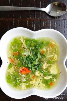 Loaded with asparagus and crab, Vietnamese Fresh Asparagus and Crab Soup (Sup Mang Tay Cua) is elegant looking and delicately flavored. #soup #vietnamesesoup