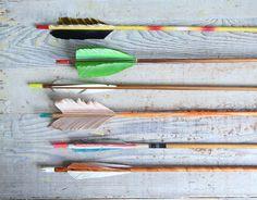 NEW COLORS //  Vintage Wooden Arrow. $16.00, via Etsy.