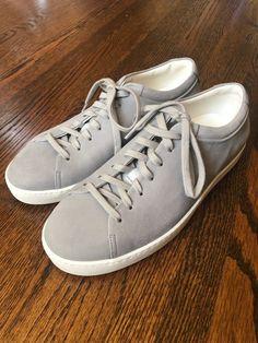 9171aaf30 Authentic Lanvin Paris gray lambskin low top sneakers - New in Box. Size  8  US   41 EU   7 UK.