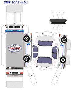 BMW 2000 Turbo - Papel Modelismo: