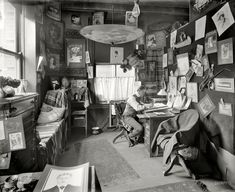I want to use this place as my art studio! .Shorpy Historical Photo Archive :: The Artist in His Studio: 1902
