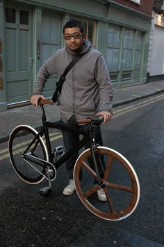LEADER 725 WITH WOODEN AEROSPOKE by TokyoFixedGear.com, via Flickr