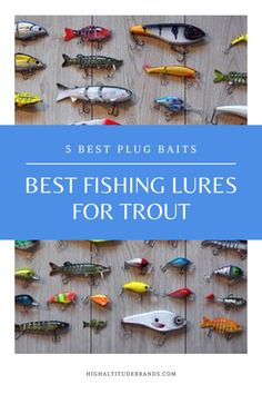 When you go fishing for trout and other species, it's very important to have a range of different lures to call on when the fish aren't biting. Sometimes, things like spinners and soft plastics will do the trick, but at other times, you will have to use spoons or plug baits. Best Trout Lures, Best Fishing Lures, Trout Fishing Tips, Gone Fishing, Soft Plastic, Bait, Spoons, Plugs, Outdoors
