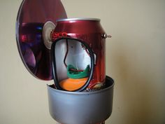 Tin Can, Coke can Stirling engine plans - How to - Scrap To Power Marble Run Sculpture, Miniature Steam Engine, Experiment, Make Do And Mend, How To Make, Tin Can Robots, Stirling Engine, Automotive Engineering, Coke Cans