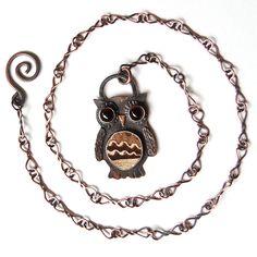 Owl Necklace #Owl #Necklace #jewelry #glass