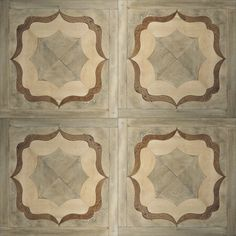 Tabarka,   Zenati & Edri wood Parquet  floor with stone inlay 10.  Finish: Limburg, Sorian & Mozet