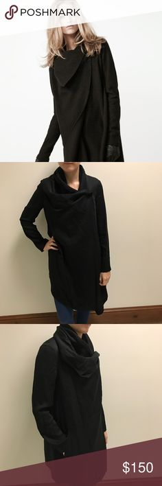 AllSaints Black Layered Swing Coat EUC, only worn a few times. Great classic fall jacket. The interior closures give you several styling options and layered looks. All Saints Jackets & Coats