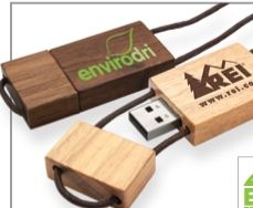 Blocco Wood USB Flash Drive (128 Mb)