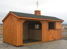 Horse Barn with a Run-In Stall!  http://www.woodtex.com/barns-and-run-in-sheds.asp