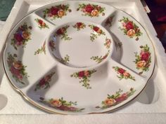 Royal Albert Old Country Rose Crudités divided dish   Dinnerware   Gumtree Australia Cambridge Area - Wembley   1151480135