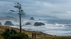 great places to watch storms on the West Coast. Cannon Beach, Ore. Wind-whipped headlands. Horizontal rain. No wonder Cannon Beach won KING-TV's Best Northwest Storm Watching 2012 award. . Explore the sands near towering Haystack Rock and then follow the surfers to Ecola State Park. Climb through stands of Sitka spruce on Indian Beach Trail for a stunning ocean view. High winds will nearly blow you off the headlands.