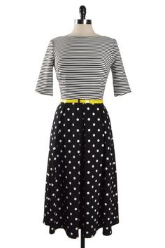 Print Mix Dress