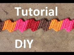 tutorial pulsera macrame de colores | bracelet macrame - YouTube