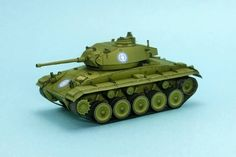 WWII M24 Chaffee Light Tank Free Paper Model Download