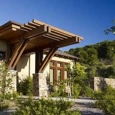 Contemporary Home Front Door Entry Craftsman Portico Design, Pictures, Remodel, Decor and Ideas