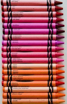 Crayon Spectrum ~ Reds and Oranges