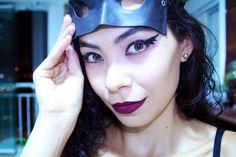 Maquiagem e fantasia de Carnaval. Delineado do Batman  http://princesadapreguica.com.br/dicas-de-fantasia-maquiagem-carnaval/