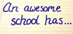 """Second Grade Wisdom: """"If a school wants to be awesome it needs books"""""""