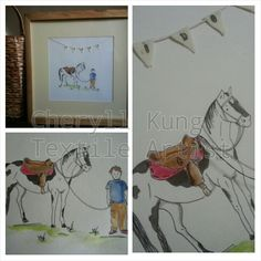 Beautiful hand drawn stitched gifts via facebook by cheryll kung.