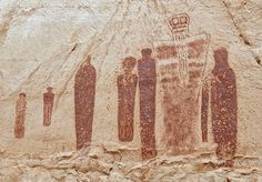 Holy Ghost panel in the Great Gallery, Horseshoe Canyon. Canyonlands NP