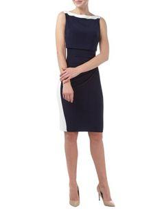 LAUREN-RALPH-LAUREN Kleid mit seitlicher Drapierung und Raffungen in Blau / Türkis online entdecken (9538618) | P&C Online 160€
