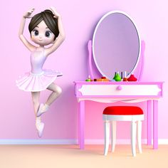 Vinilos Infantiles: Bailarina #vinilo #pared #bailarina #ballet #decoracion #infantil #TeleAdhesivo