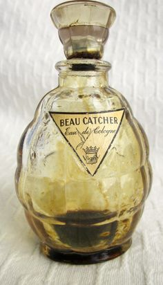 Vintage VIGNY  BEAU CATCHER  French Cologne Perfume Bottle 1940s