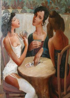 Emzar Kiknavelidze 1964 was born in the city of Zestafoni, Georgia. - it was trained at the Tbilisi art school . Art School, Georgia, Playing Cards, Museum, Painting, Third, Artworks, Women, Artist