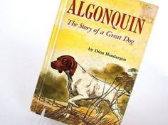 This vintage 1953 book - Algonquin, The Story of a Great Dog, was written by Dion Henderson and illustrated by David Stone. This is a heartbreaking