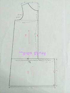 (무료패턴) 루즈핏 원피스 제도법 : 네이버 블로그 Sewing Letters, Circle Skirt Pattern, Sewing Blouses, Dress Patterns, Blog, Handmade, Ideas, Dresses, Sewing Tips