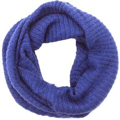 LA77 Women's Knit Circle Scarf ($27) ❤ liked on Polyvore featuring accessories, scarves, blue, infinity scarf, knit scarves, tube scarf, knit infinity scarf and blue scarves