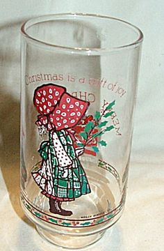 holly hobby christmas collectible glass... I had a glass like this.. sure do miss it!