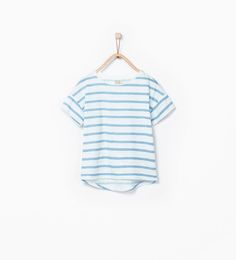 ZARA - COPII - Tricou cu imprimeu cu dungi fluorescente