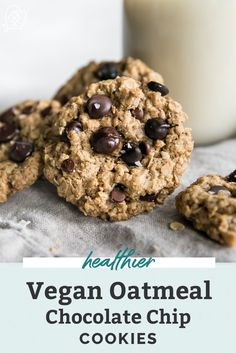 The BEST easy Vegan Oatmeal Chocolate Chip Cookies! A take on the classic recipe made simple and actually pretty healthy in comparison. Using flaxseed, coconut oil (olive or avocado oil works too) rolled oats, brown sugar and plenty of chocolate chips. Dairy free, nut free and gluten free friendly! These are a must!