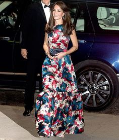 Kate Middleton wore an Erdem floral silk gown to the 100 Women in Hedge Funds black-tie dinner in London on Tuesday, Oct. 27 — see her latest look