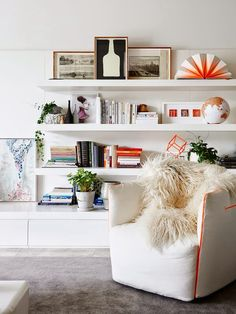 Love the hall cabinets and shelves