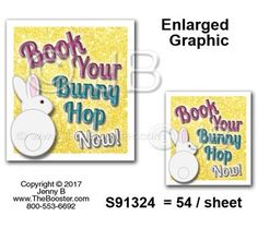 S91324 -wp- Book Bunny Hop NOW PKMR -48 STICKERS