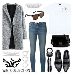 """WiGi J Series Classic White  T-shirt"" by helenevlacho ❤ liked on Polyvore featuring Frame Denim, Zara, Lancôme, Moratorium, MAC Cosmetics, women's clothing, women's fashion, women, female and woman"
