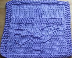 DigKnitty Designs: Cross and Dove Knit Dishcloth Pattern
