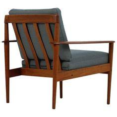 Very Rare Danish Modern Grete Jalk Teak Easy Chair Mod. PJ 56/1 Poul Jeppesen