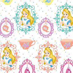 Disney Fabric Disney Alice in wonderland Fabric by Angelfabric