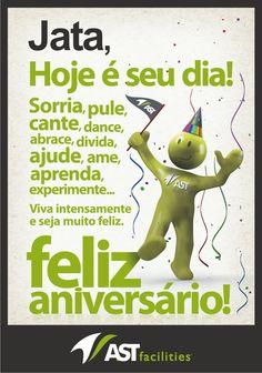 Cartão de aniversário interno