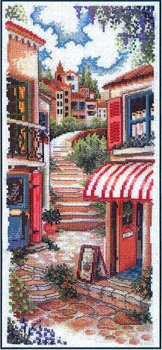 Cross stitch pattern, Toscana Estiva 1 #tapestry and #cross stitch #designs #@Af's 26/4/13