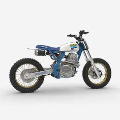 Vintage Honda NX650 Dominator design by @dab_design_. What do you think? We're digging it. Found via @bikeboundblog.…