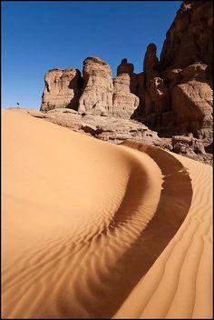 Algerian Desert  Cliffs of Deep Desert