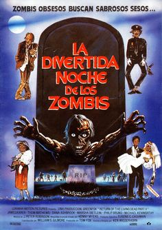 Return of the Living Dead: Part II, horror movies, movie poster All Horror Movies, Real Horror, Zombie Movies, Horror Show, Horror Movie Posters, Good Movies, Film Posters, Thor, Spanish Posters