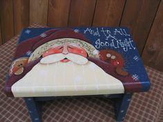 Santa stool -- um, it kinda looks like Santa would be kissing my butt...