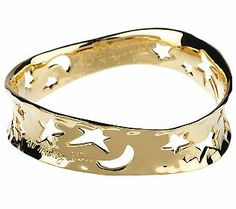 Gold bangle with stars and crescent moons. Get. In. My. Life.
