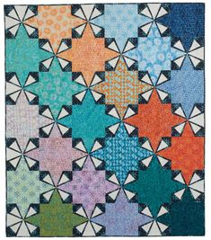 Sprockets Batik Quilt Pattern